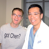 David Baker with Dr. Roc Chen