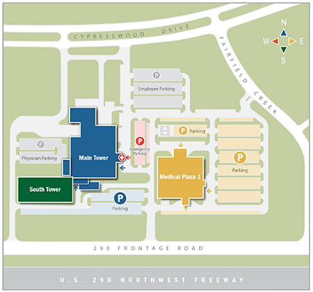 Cypress Campus Map