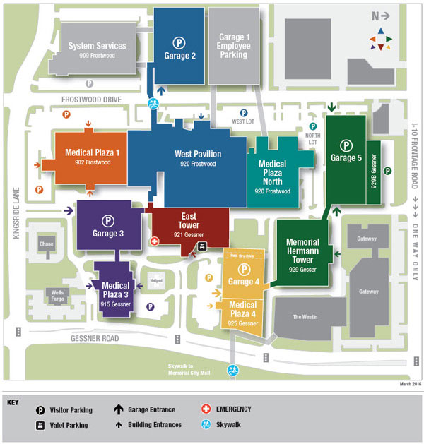 Campus map of Memorial City Medical Center