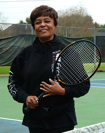 Venola Jolley Playing Tennis