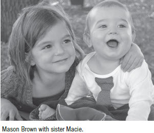 Mason Brown with sister Macie