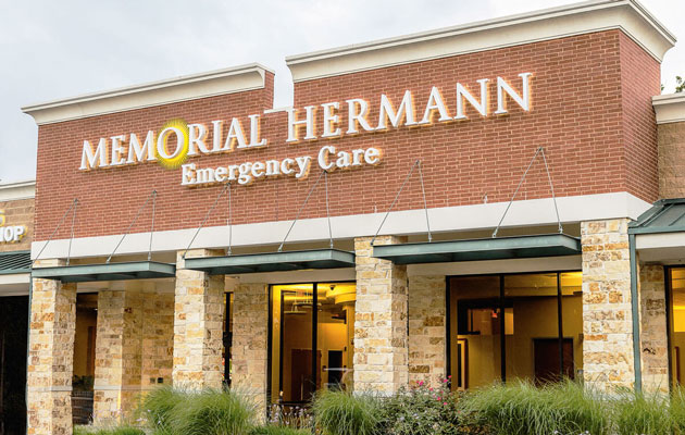Outside photo of the Memorial Hermann Emergency Care center
