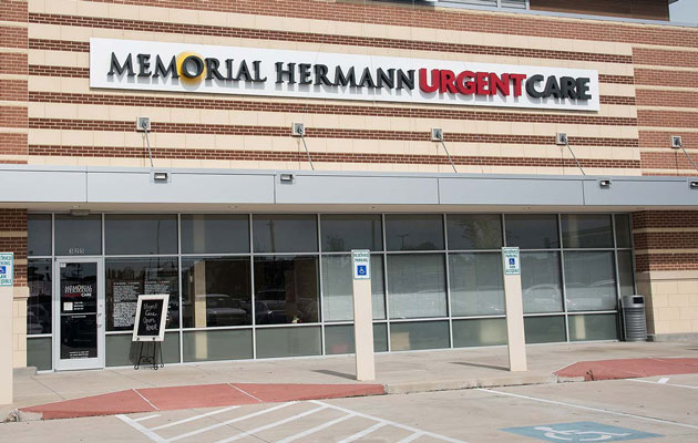 Exterior photo of the Memorial Hermann Urgent Care