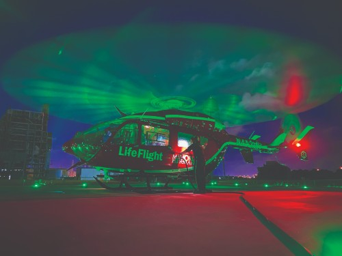 Life Flight at night