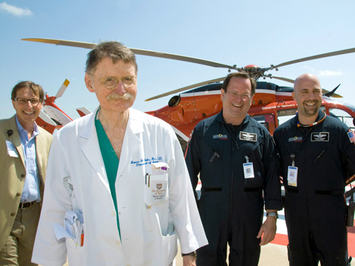 Dr. Duke with The Life Flight Team