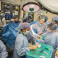Dr. Mary Austin in surgery
